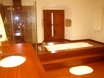 El Turo bathroom with jacuzzi tub and multi-jet shower
