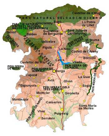 Map of the Berguedá region