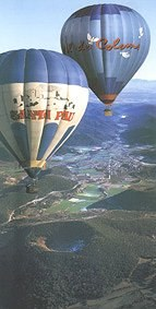 Ballooning over the Garrotxa Volcanic region near Olot