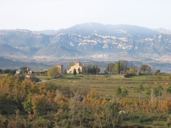 El Bergueda, the view north from near Gironella