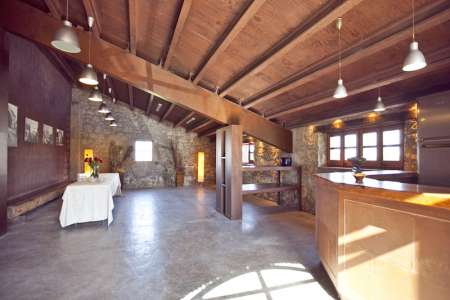 Can Cabanas, the huge converted barn with bar and room for all types of events...