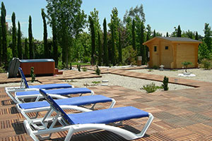 Casanova de Ferrando, the spa area, with Jacuzzi and sauna next to large (12x6m) pool