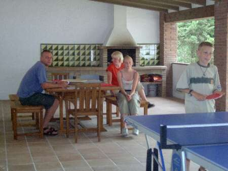 Casa San Juan, large barbecue area for 20+ guests, with WC, ping pong, lighting for night meals