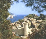 The old town walls of Tossa de Mar